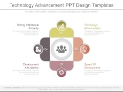 Technology Advancement Ppt Design Templates