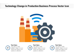 Technology Change In Production Business Process Vector Icon Ppt PowerPoint Presentation Inspiration Slide Download PDF