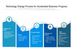 Technology Change Process For Accelerated Business Progress Ppt PowerPoint Presentation Styles Show PDF