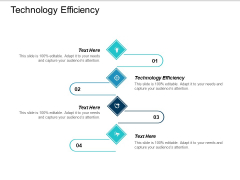 Technology Efficiency Ppt PowerPoint Presentation Slides Clipart Cpb