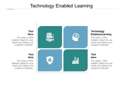 Technology Enabled Learning Ppt PowerPoint Presentation Infographics Guidelines Cpb Pdf