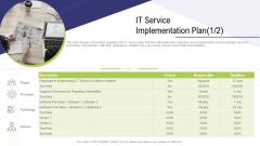 Technology Facility Maintenance And Provider IT Service Implementation Plan Service Sample PDF