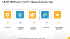 Technology Guide For Serverless Computing Characterstics Of Identity As A Service Idaas Download PDF