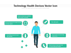 Technology Health Devices Vector Icon Ppt PowerPoint Presentation Gallery Design Templates PDF