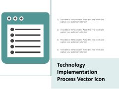 Technology Implementation Process Vector Icon Ppt PowerPoint Presentation File Mockup