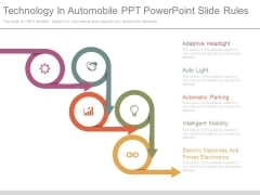 Technology In Automobile Ppt Powerpoint Slide Rules