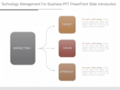 Technology Management For Business Ppt Powerpoint Slide Introduction