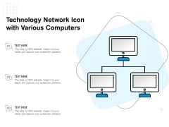 Technology Network Icon With Various Computers Ppt PowerPoint Presentation Ideas Introduction PDF