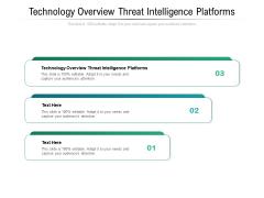 Technology Overview Threat Intelligence Platforms Ppt PowerPoint Presentation Inspiration Topics Cpb Pdf