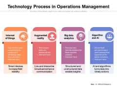 Technology Process In Operations Management Ppt PowerPoint Presentation Infographic Template Template PDF