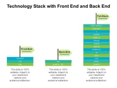 Technology Stack With Front End And Back End Ppt PowerPoint Presentation Styles Layouts PDF