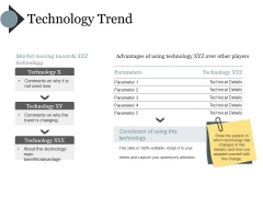 Technology Trend Ppt PowerPoint Presentation Model Slide Portrait