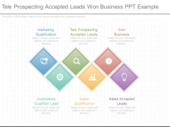 Tele Prospecting Accepted Leads Won Business Ppt Example