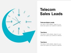 Telecom Sales Leads Ppt PowerPoint Presentation File Demonstration Cpb
