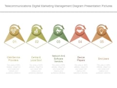 Telecommunications Digital Marketing Management Diagram Presentation Pictures