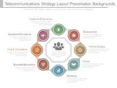 Telecommunications Strategy Layout Presentation Backgrounds