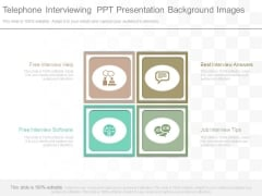Telephone Interviewing Ppt Presentation Background Images