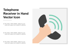 Telephone Receiver In Hand Vector Icon Ppt PowerPoint Presentation Ideas Format Ideas