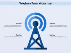 Telephone Tower Vector Icon Ppt Professional Styles PDF