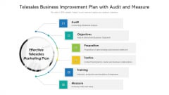 Telesales Business Improvement Plan With Audit And Measure Ppt PowerPoint Presentation Inspiration Example PDF