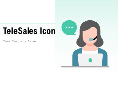 Telesales Icon Customers Process Ppt PowerPoint Presentation Complete Deck