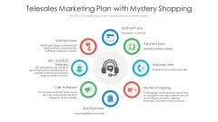 Telesales Marketing Plan With Mystery Shopping Ppt PowerPoint Presentation Portfolio Good PDF