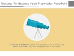 Telescope For Business Vision Presentation Powerpoint