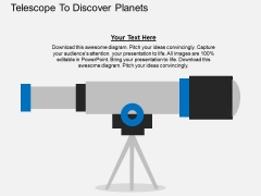 Telescope To Discover Planets Powerpoint Template