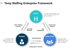 Temp Staffing Enterprise Framework Ppt PowerPoint Presentation File Background PDF
