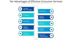 Ten Advantages Of Effective Consumer Services Ppt PowerPoint Presentation File Deck PDF