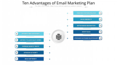 Ten Advantages Of Email Marketing Plan Ppt PowerPoint Presentation File Portfolio PDF