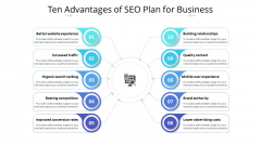 Ten Advantages Of SEO Plan For Business Ppt PowerPoint Presentation File Layout PDF