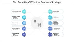 Ten Benefits Of Effective Business Strategy Ppt PowerPoint Presentation Styles Guide PDF