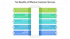 Ten Benefits Of Effective Customer Services Ppt PowerPoint Presentation Portfolio Portrait PDF