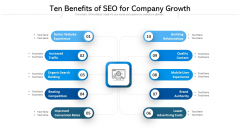 Ten Benefits Of SEO For Company Growth Ppt PowerPoint Presentation Ideas Gallery PDF