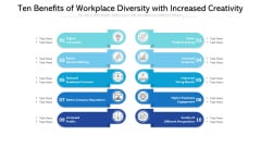 Ten Benefits Of Workplace Diversity With Increased Creativity Ppt PowerPoint Presentation File Deck PDF