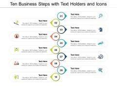 Ten Business Steps With Text Holders And Icons Ppt PowerPoint Presentation Infographics Example