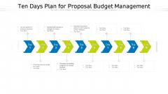 Ten Days Plan For Proposal Budget Management Ppt PowerPoint Presentation File Slides PDF
