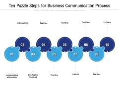 Ten Puzzle Steps For Business Communication Process Ppt PowerPoint Presentation Infographics Outfit