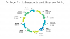 Ten Stages Circular Design For Successful Employee Training Ppt PowerPoint Presentation Gallery Visual Aids PDF