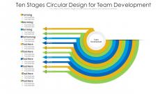 Ten Stages Circular Design For Team Development Ppt PowerPoint Presentation Gallery Layout Ideas PDF