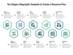 Ten Stages Infographic Template To Create A Resource Plan Ppt PowerPoint Presentation Infographics Skills