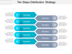 Ten Steps Distribution Strategy Ppt PowerPoint Presentation Model Example