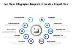 Ten Steps Infographic Template To Create A Project Plan Ppt PowerPoint Presentation Ideas