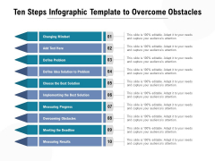 Ten Steps Infographic Template To Overcome Obstacles Ppt PowerPoint Presentation Outline Graphics Design