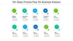Ten Steps Process Flow For Business Analysis Ppt PowerPoint Presentation Gallery Guidelines PDF