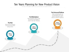 Ten Years Planning For New Product Vision Ppt PowerPoint Presentation Gallery Smartart PDF