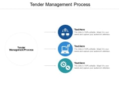 Tender Management Process Ppt PowerPoint Presentation Model Slideshow Cpb
