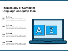 Terminology Of Computer Language On Laptop Icon Ppt PowerPoint Presentation Infographics Show PDF