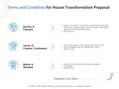 Terms And Condition For House Transformation Proposal Ppt PowerPoint Presentation Inspiration Examples